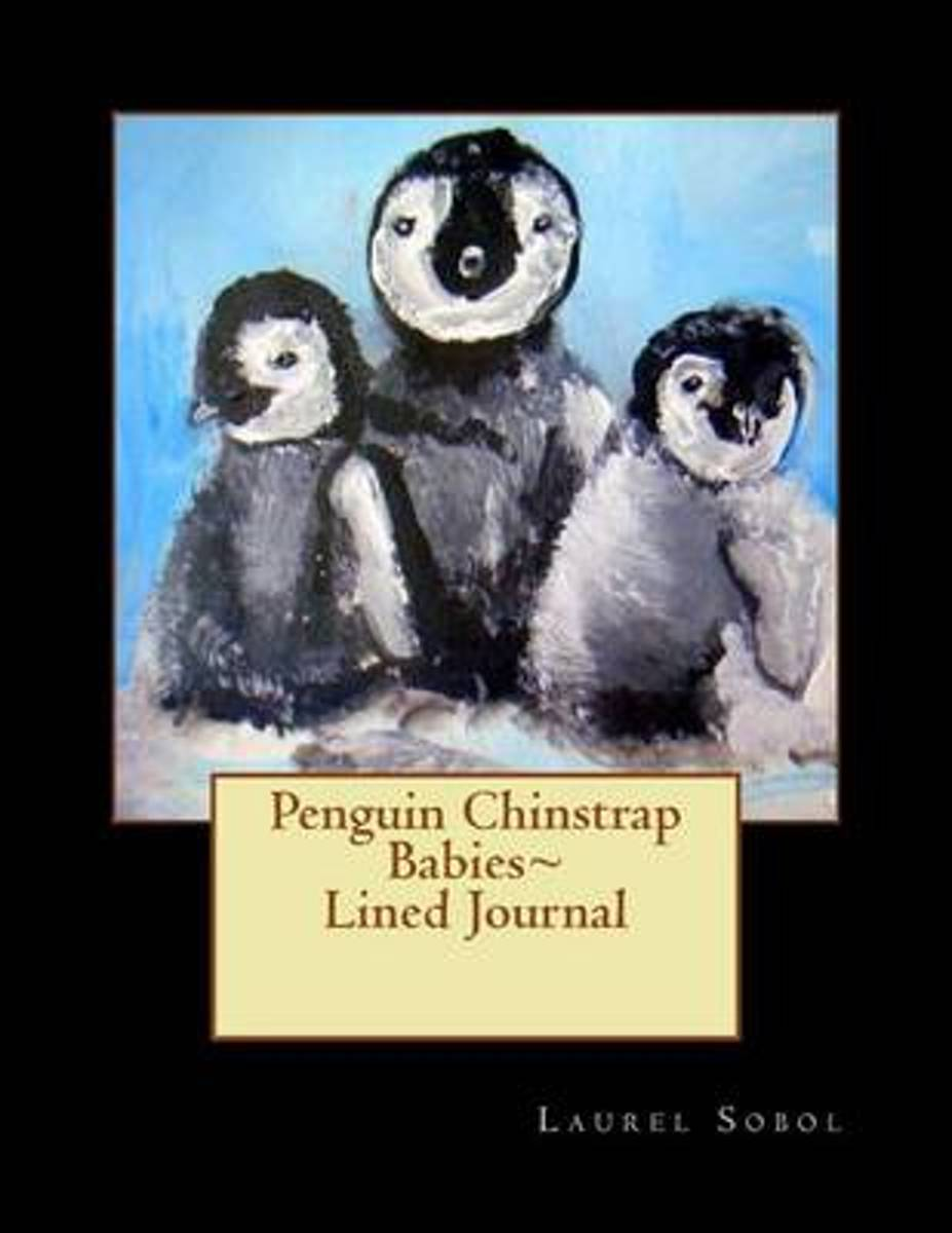 Penguin Chinstrap Babies Lined Journal