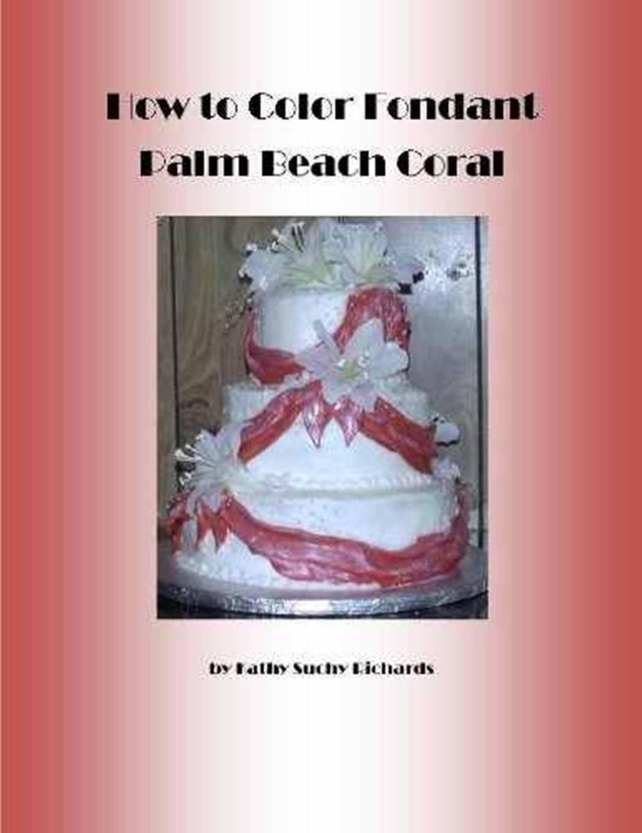 How to Color Fondant Palm Beach Coral