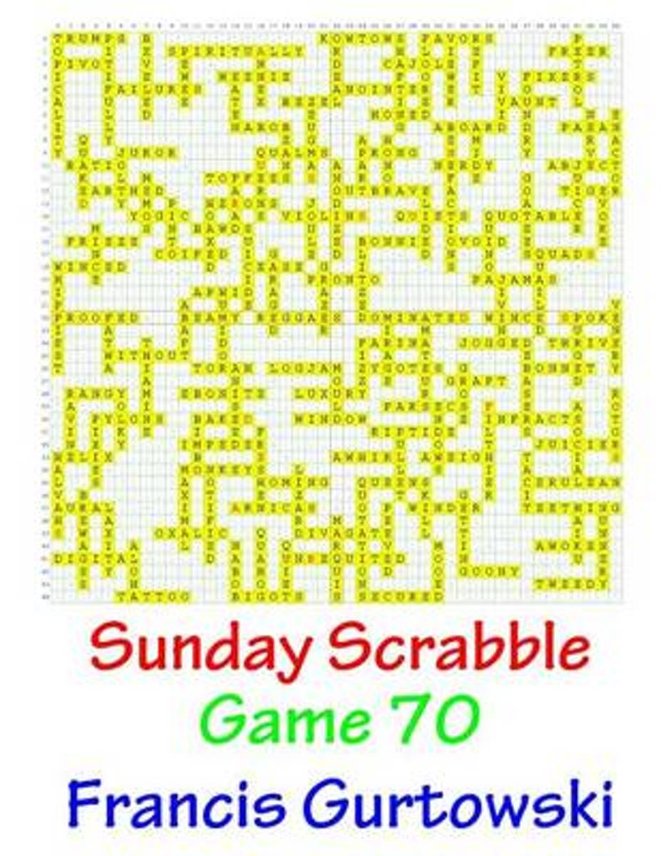 Sunday Scrabble Game 70