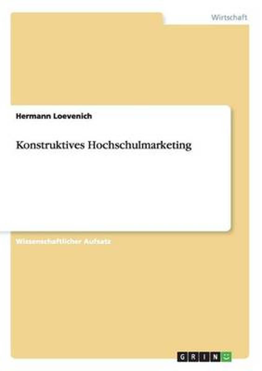 Konstruktives Hochschulmarketing
