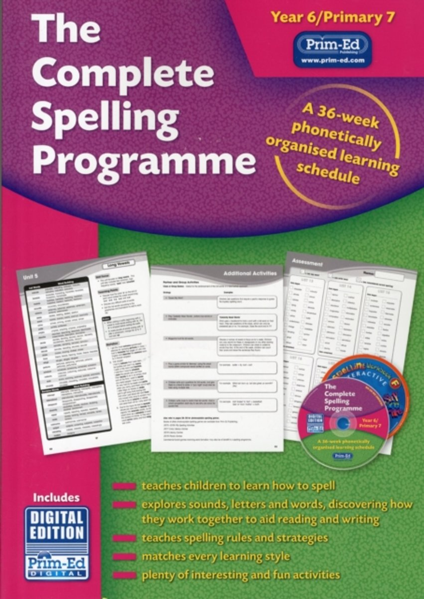 The Complete Spelling Programme Year 6/Primary 7