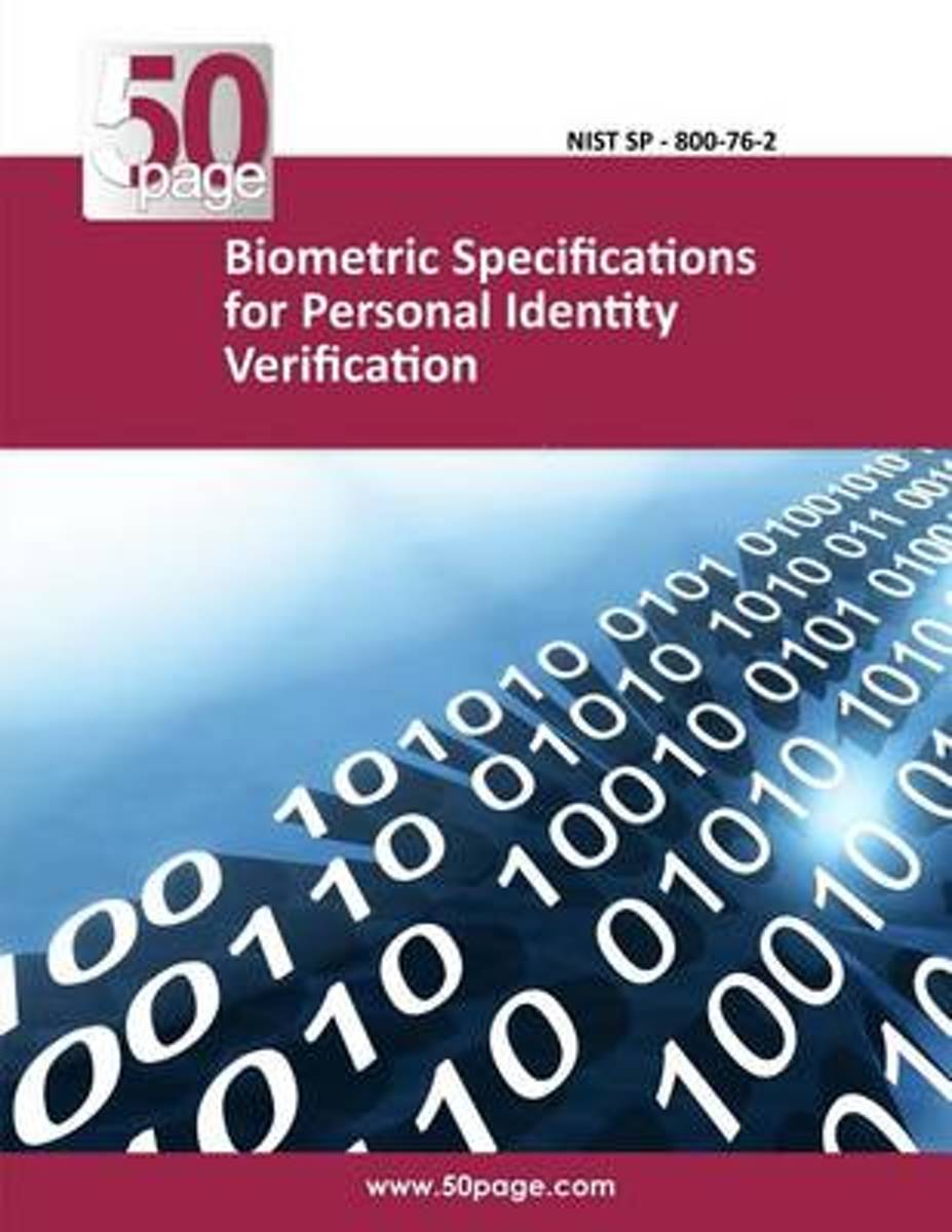 Biometric Specifications for Personal Identity Verification