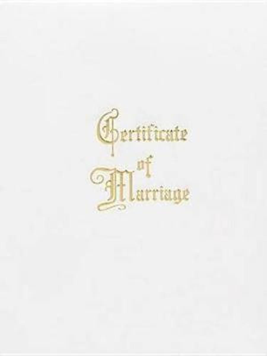Marriage Certificate Booklet with Traditional Service