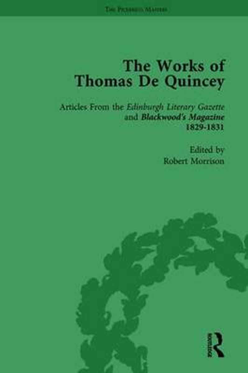 The Works of Thomas De Quincey, Part I Vol 7