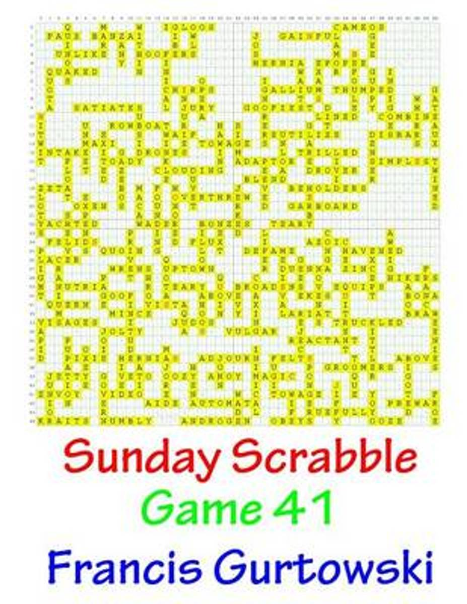 Sunday Scrabble Game 41