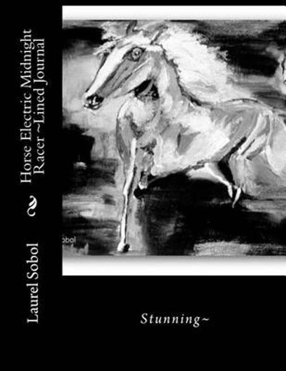 Horse Electric Midnight Racer Lined Journal