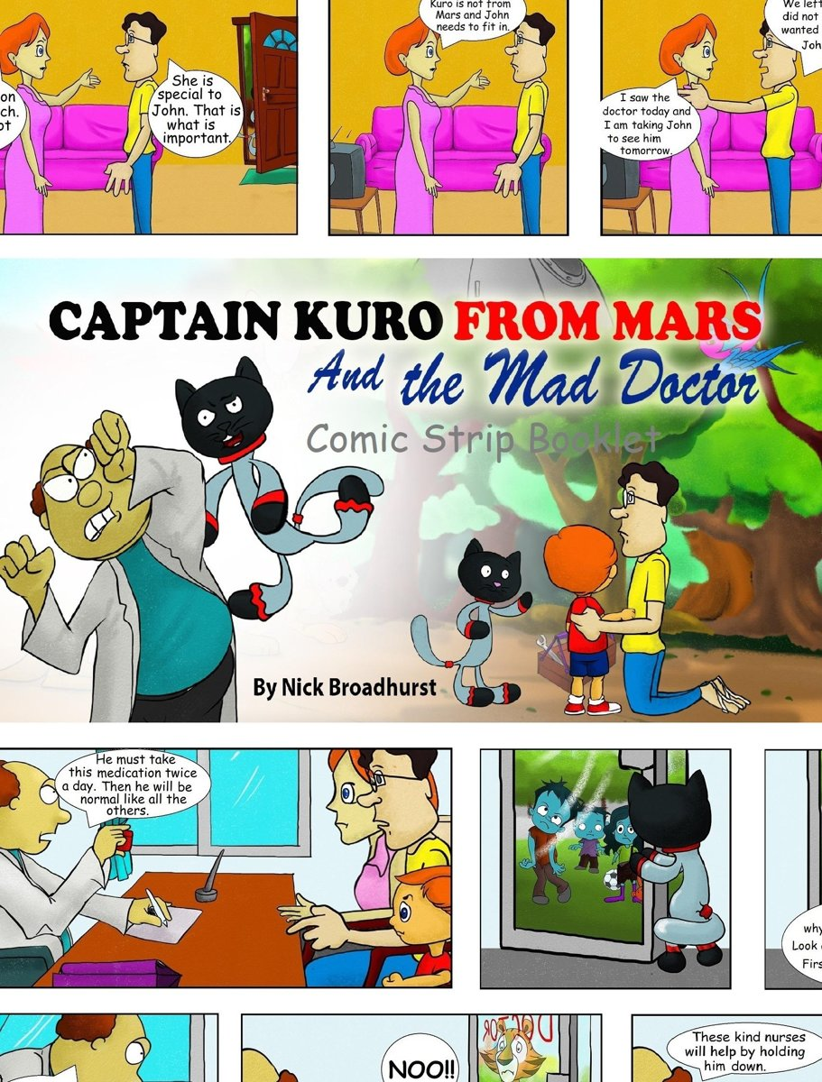 Captain Kuro From Mars And The Mad Doctor Comic Strip Booklet