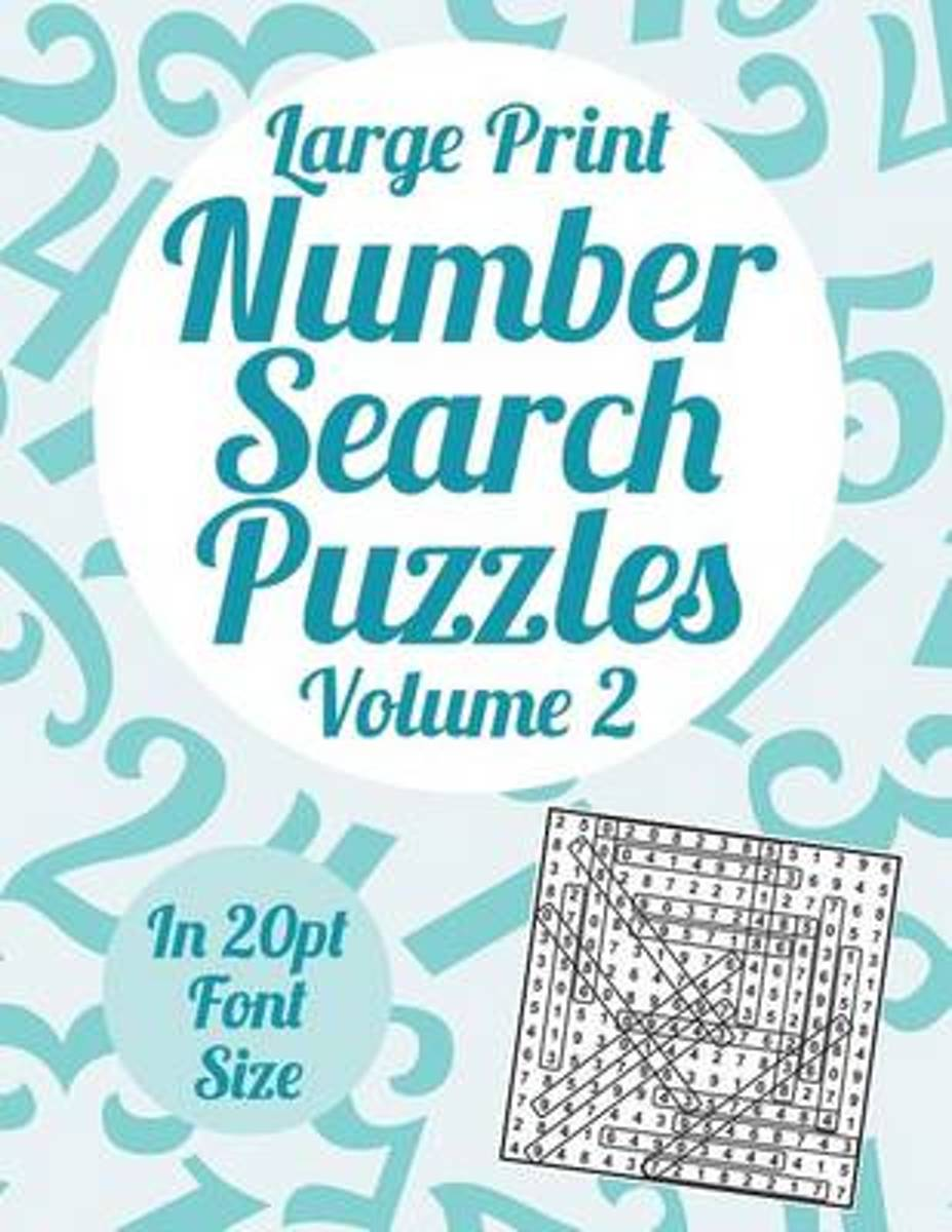 Large Print Number Search Puzzles Volume 2
