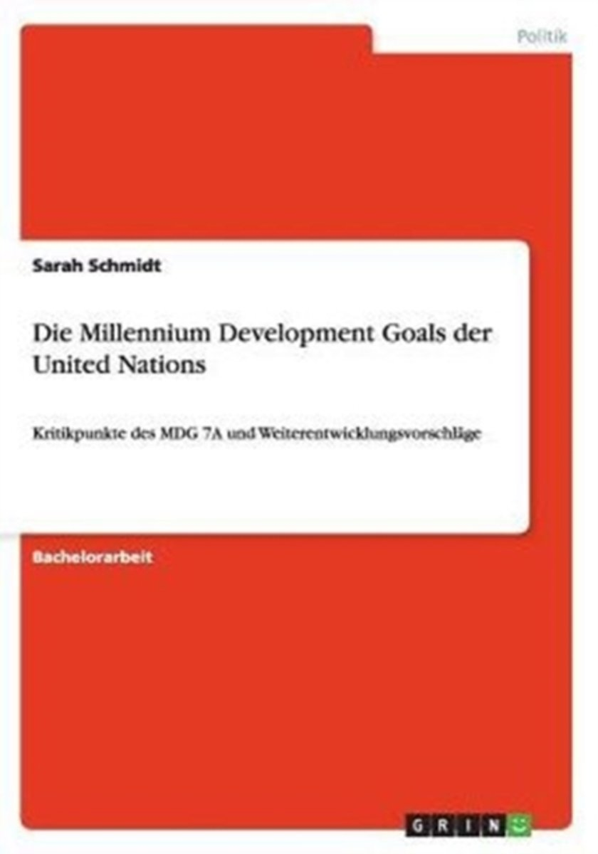 Die Millennium Development Goals Der United Nations