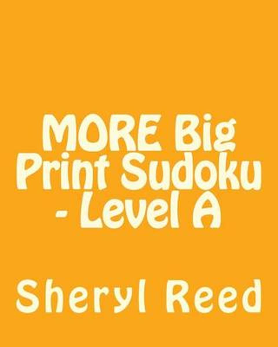 More Big Print Sudoku - Level a