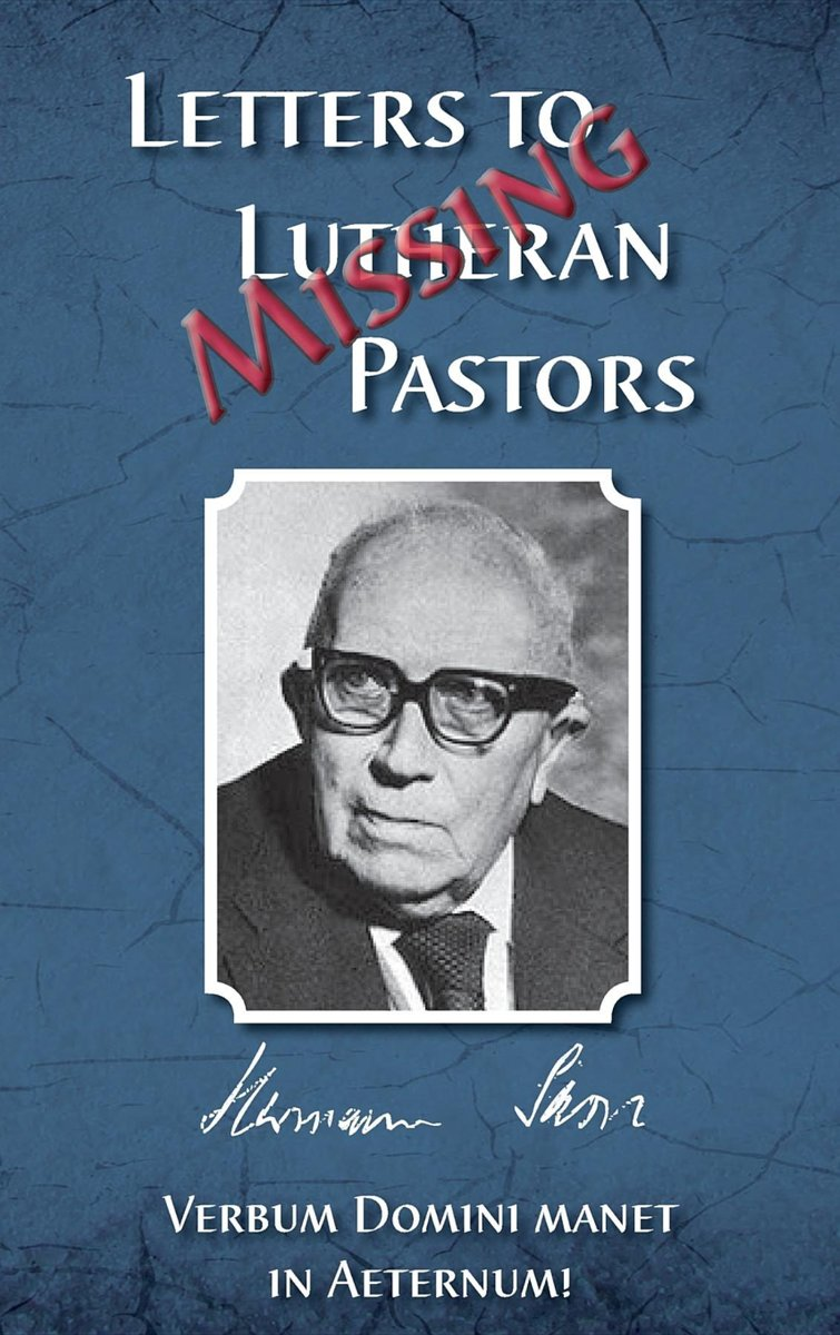 Missing Letters to Lutheran Pastors, Hermann Sasse