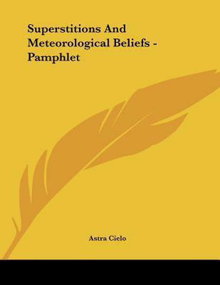 Superstitions and Meteorological Beliefs - Pamphlet