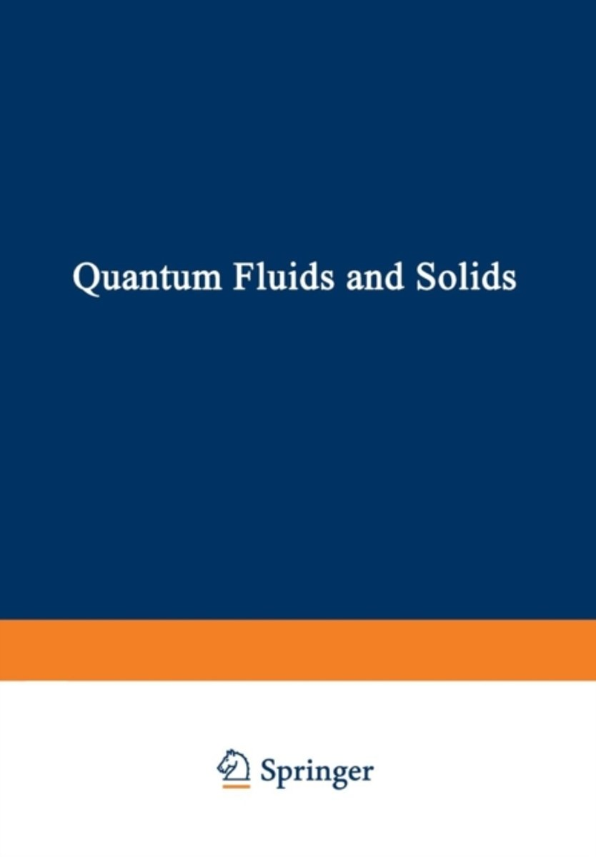 Quantum Fluids and Solids