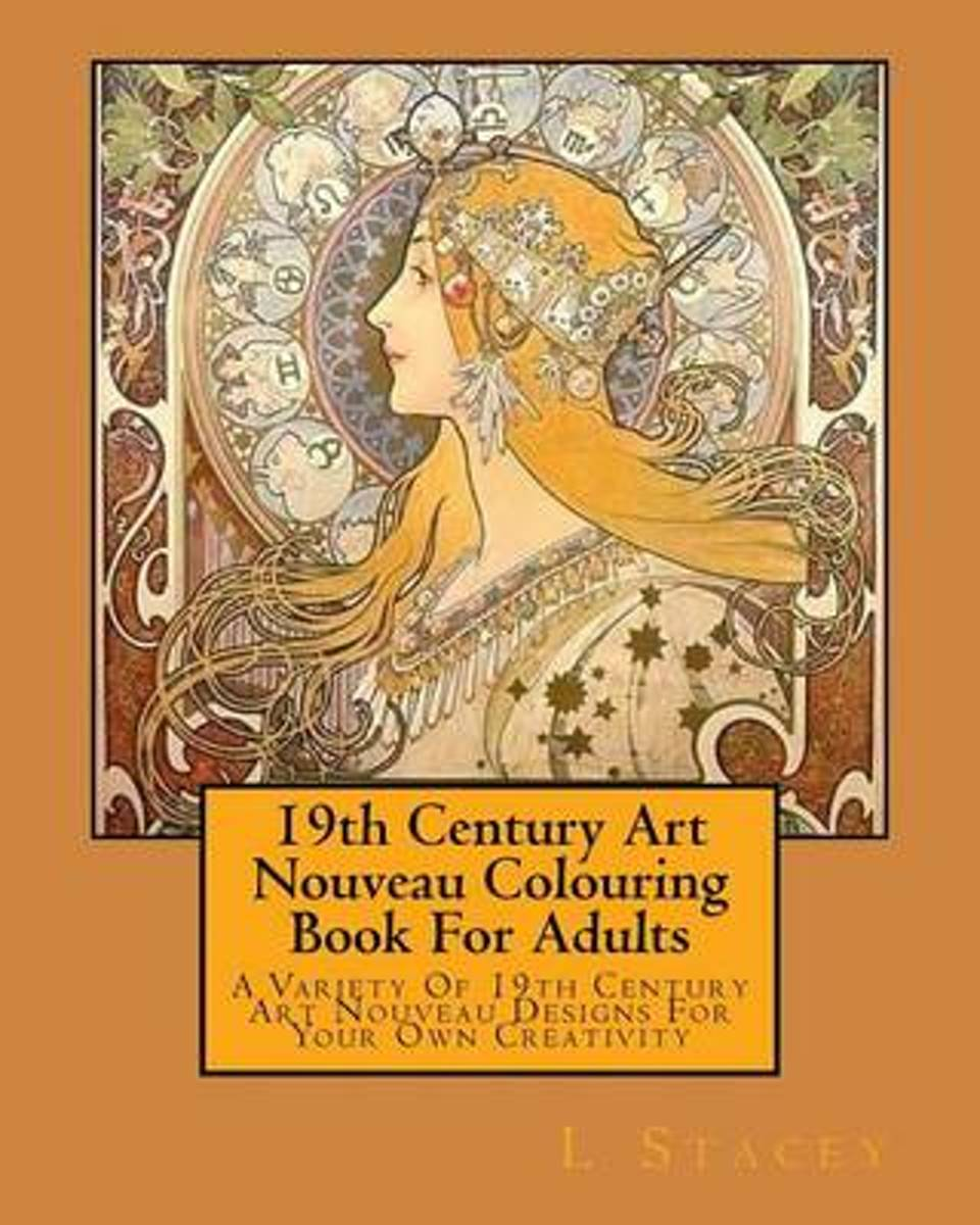 19th Century Art Nouveau Colouring Book for Adults