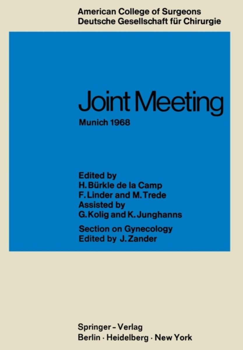 Joint Meeting Munich 1968
