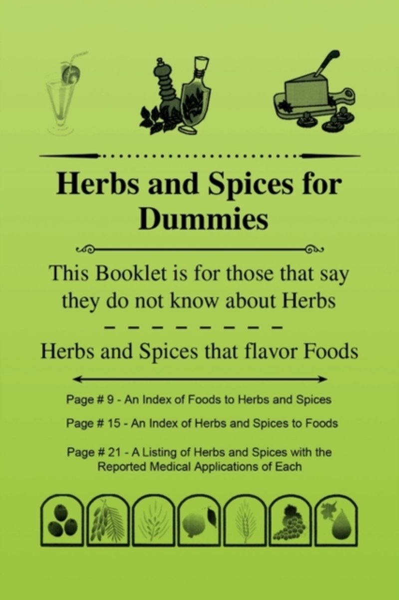 Herbs and Spices for Dummies