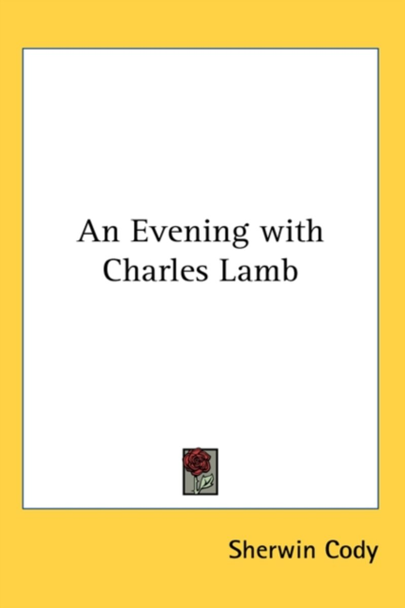 An Evening with Charles Lamb