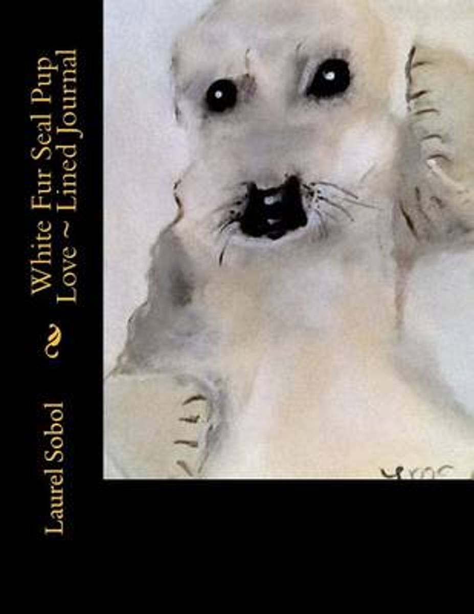 White Fur Seal Pup Love Lined Journal