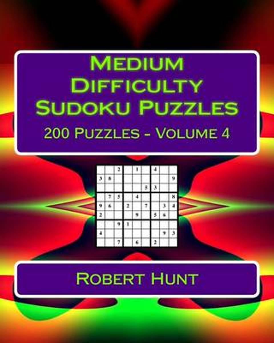 Medium Difficulty Sudoku Puzzles Volume 4