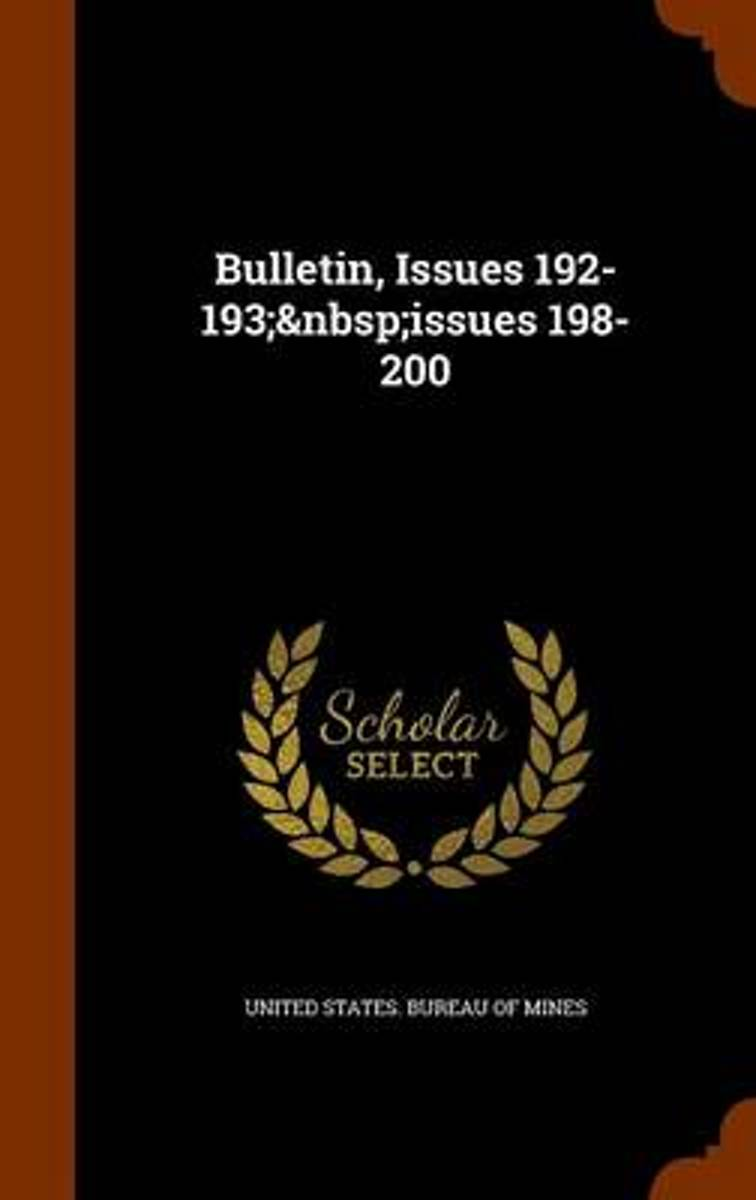 Bulletin, Issues 192-193; Issues 198-200