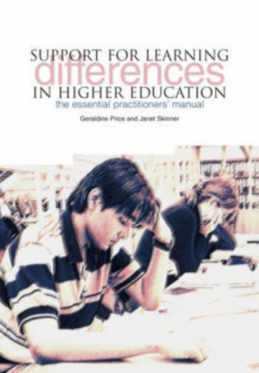 Support for Learning Differences in Higher Education