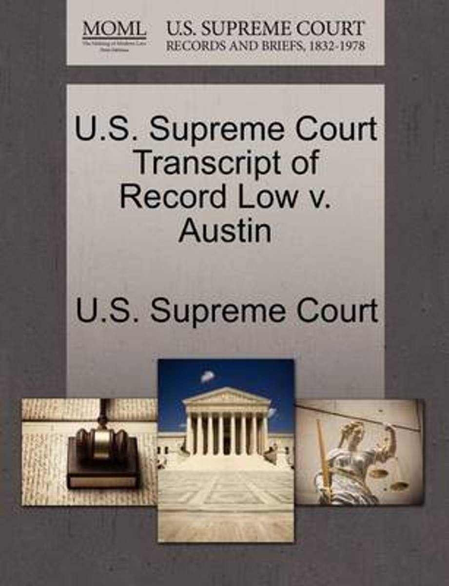 U.S. Supreme Court Transcript of Record Low V. Austin