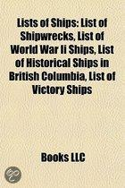 Lists of ships