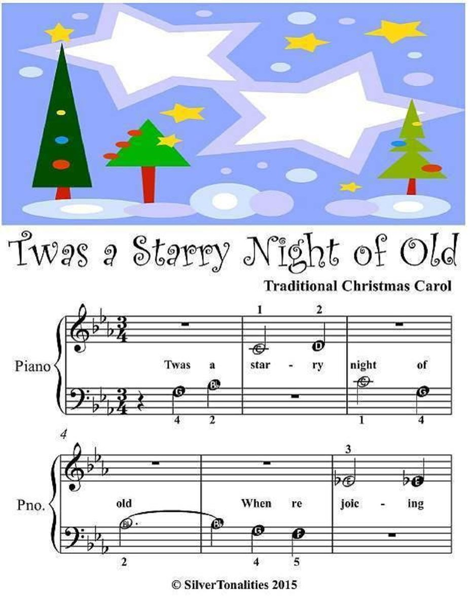 Twas a Starry Night of Old - Beginner Tots Piano Sheet Music