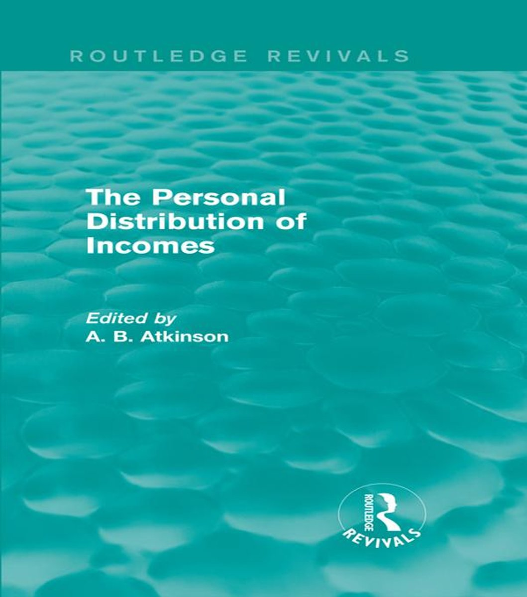 The Personal Distribution of Incomes (Routledge Revivals)