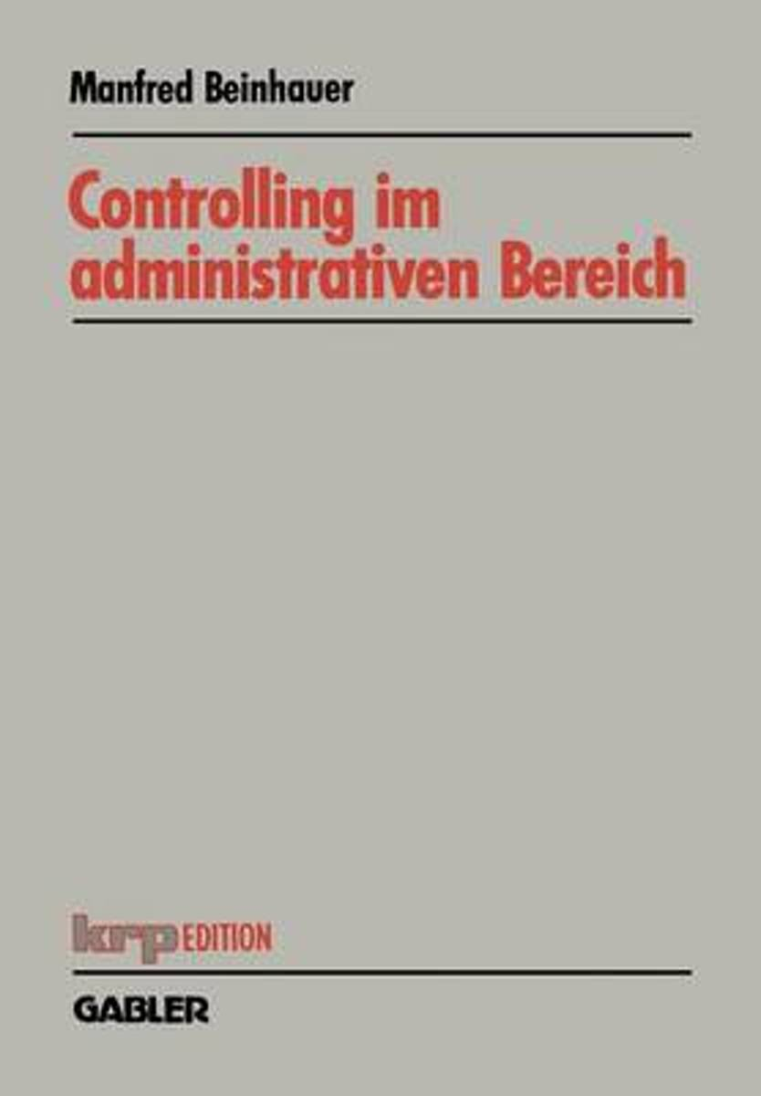 Controlling Im Administrativen Bereich