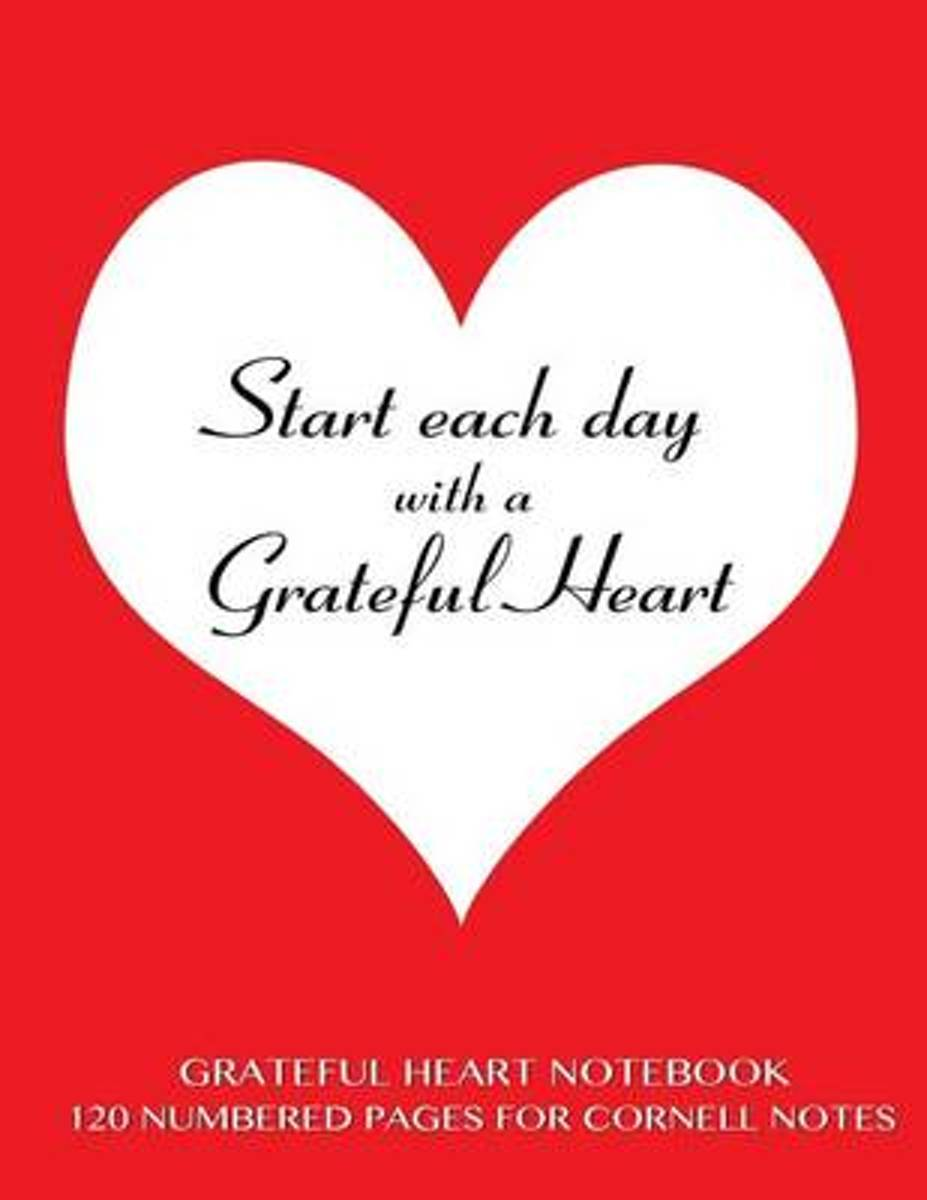 Grateful Heart Notebook 120 Numbered Pages for Cornell Notes