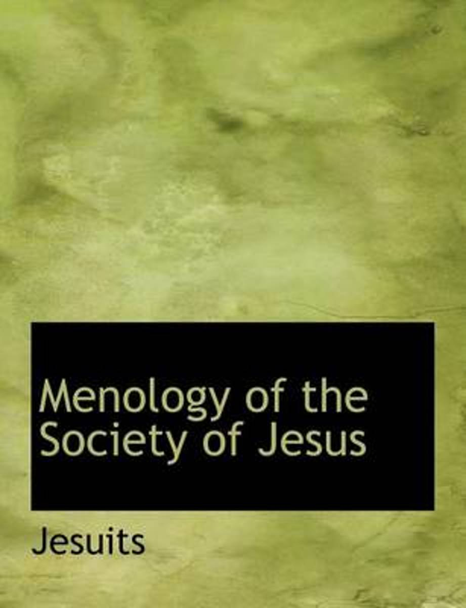 Menology of the Society of Jesus