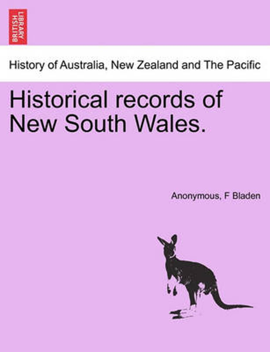 Historical Records of New South Wales.