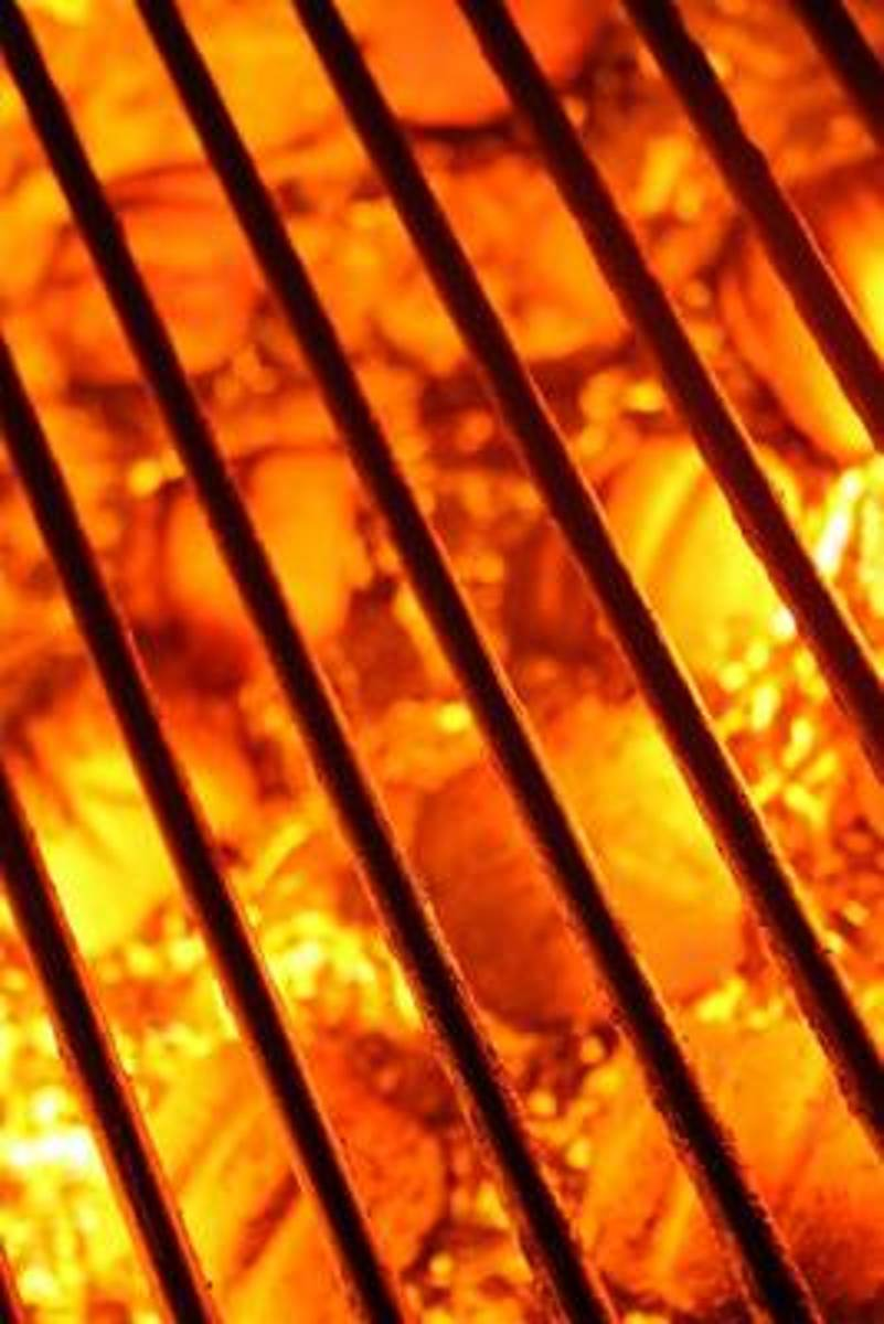Barbecue Grill with Fire Hot Coals Journal