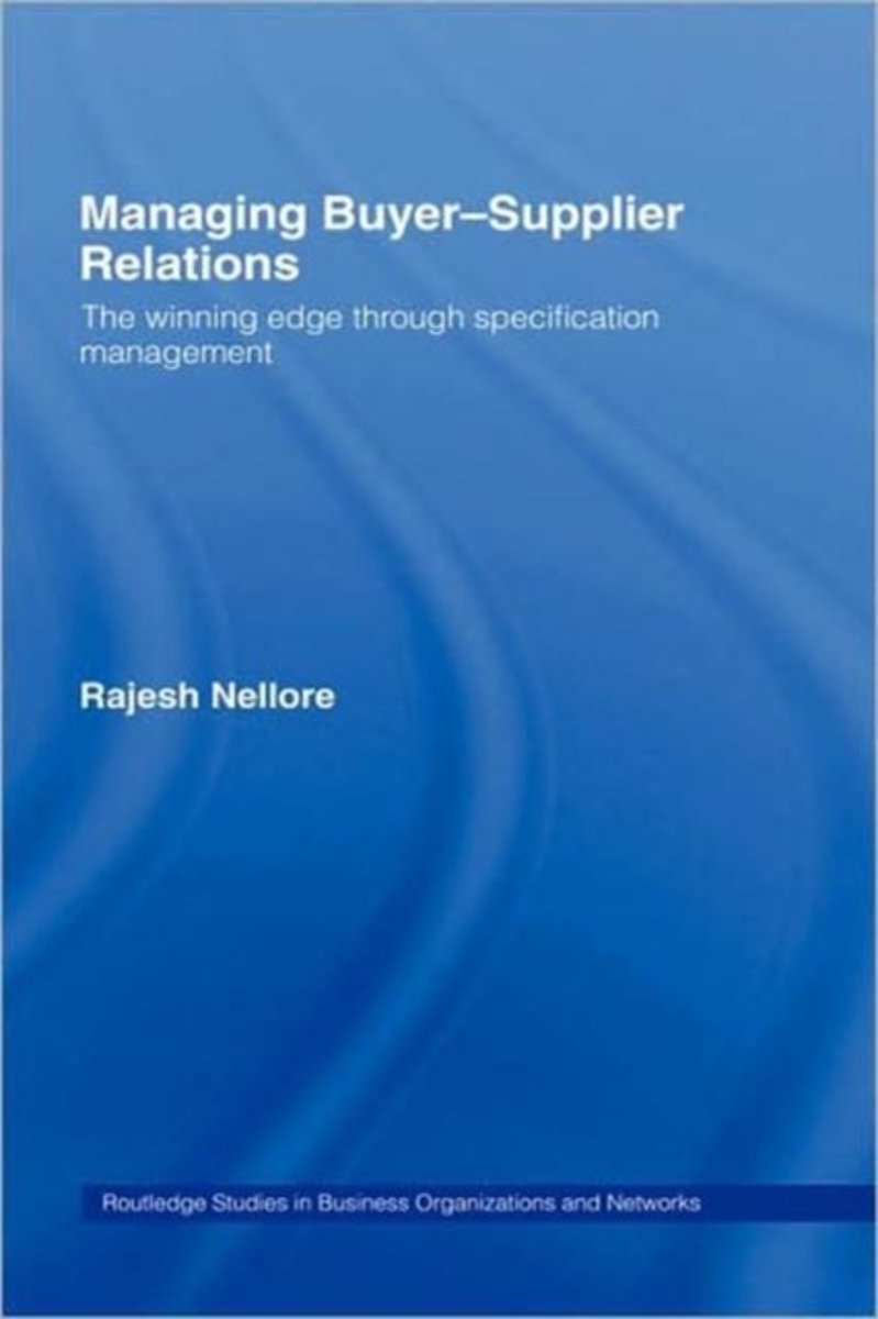 Managing Buyer-Supplier Relations