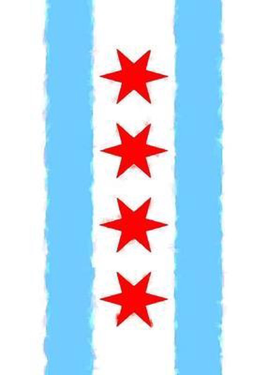 CHICAGO FLAG WATERCOLOR SKETCH JOURNAL