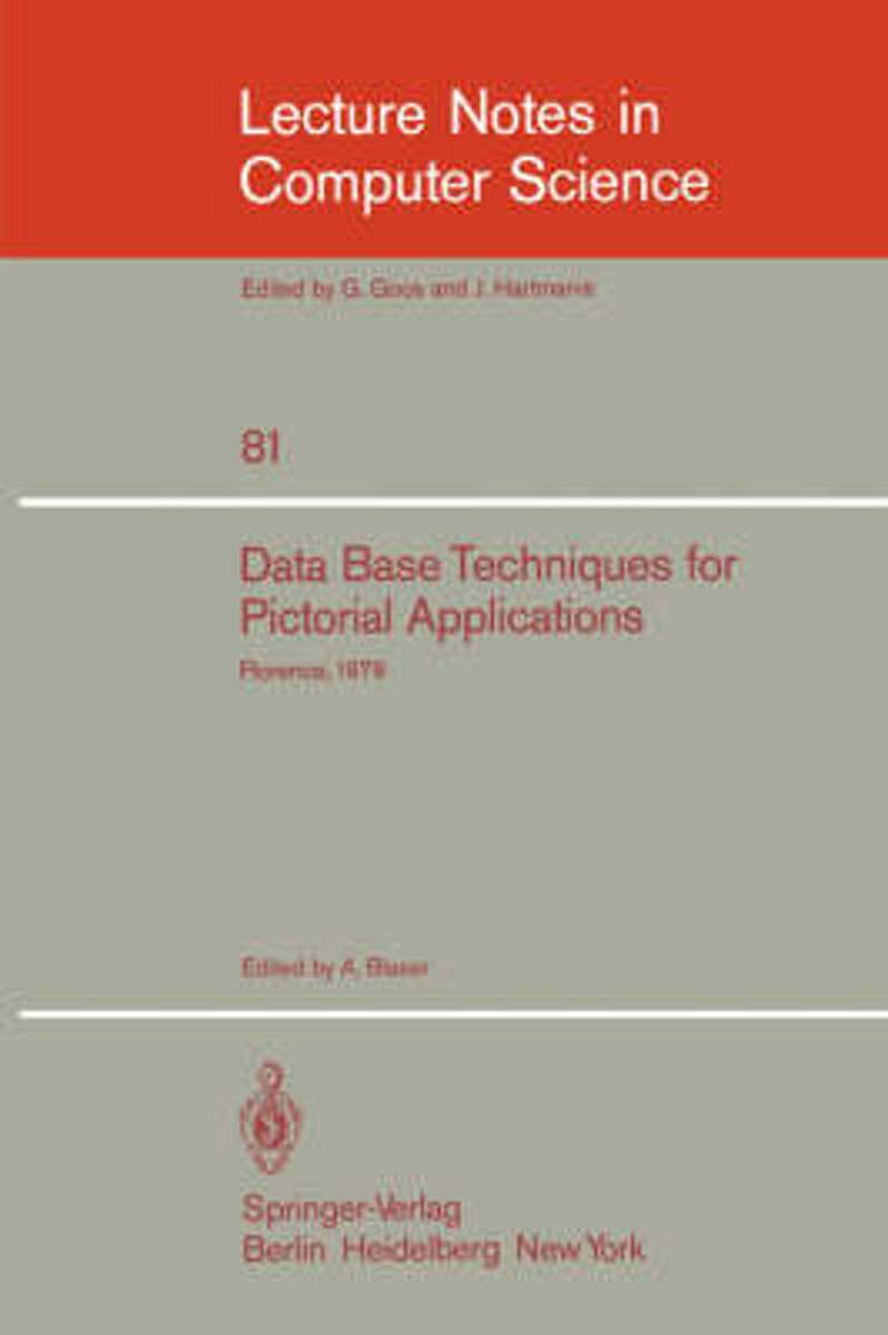 Data Base Techniques for Pictorial Application