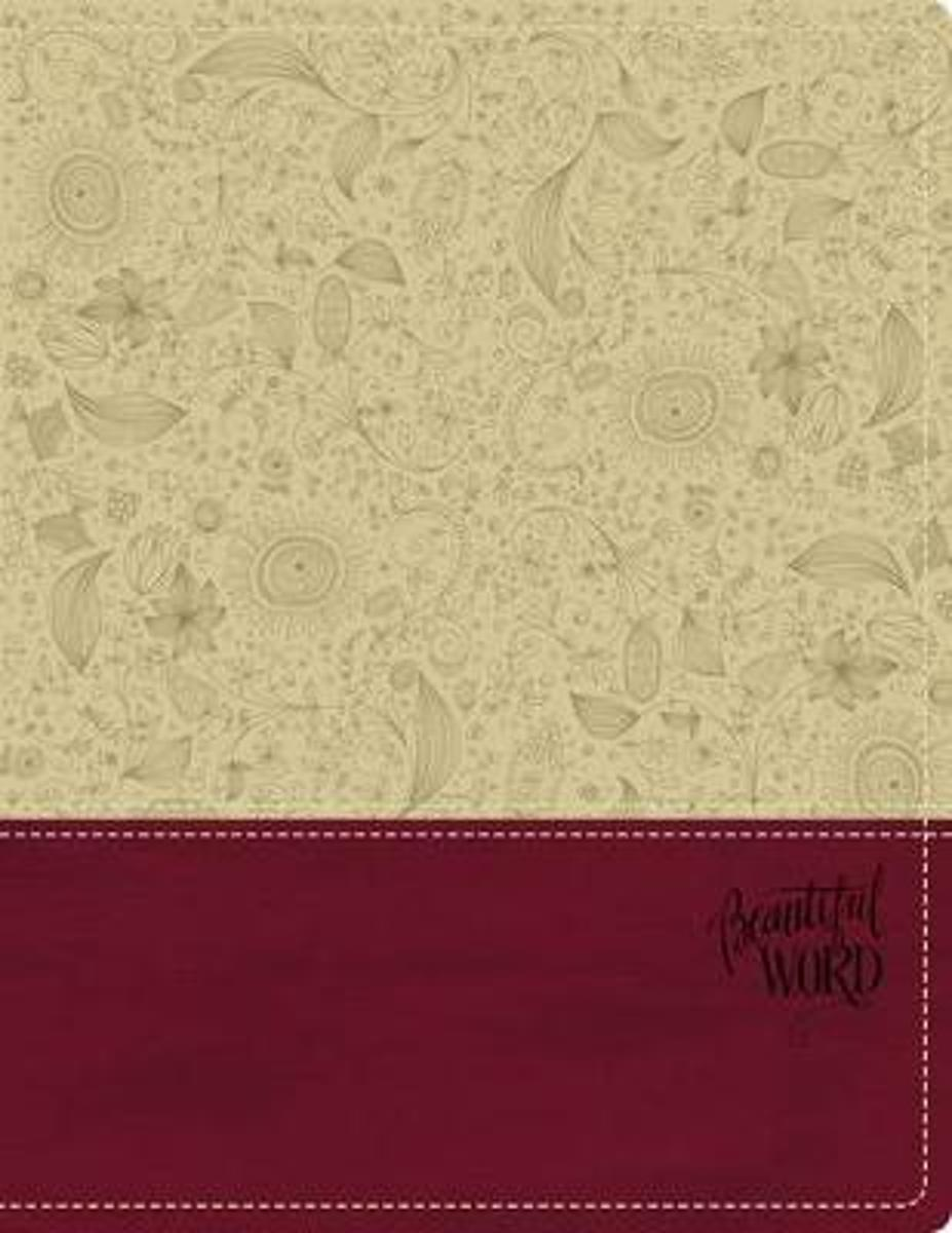 KJV, Beautiful Word Bible, Leathersoft, Tan/Pink, Red Letter Edition