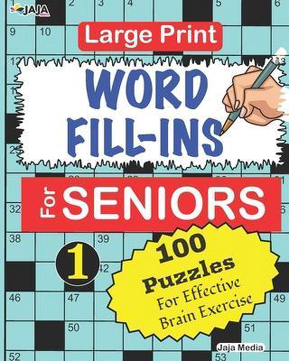 Large Print WORD FILL-INS For SENIORS; Vol. 1