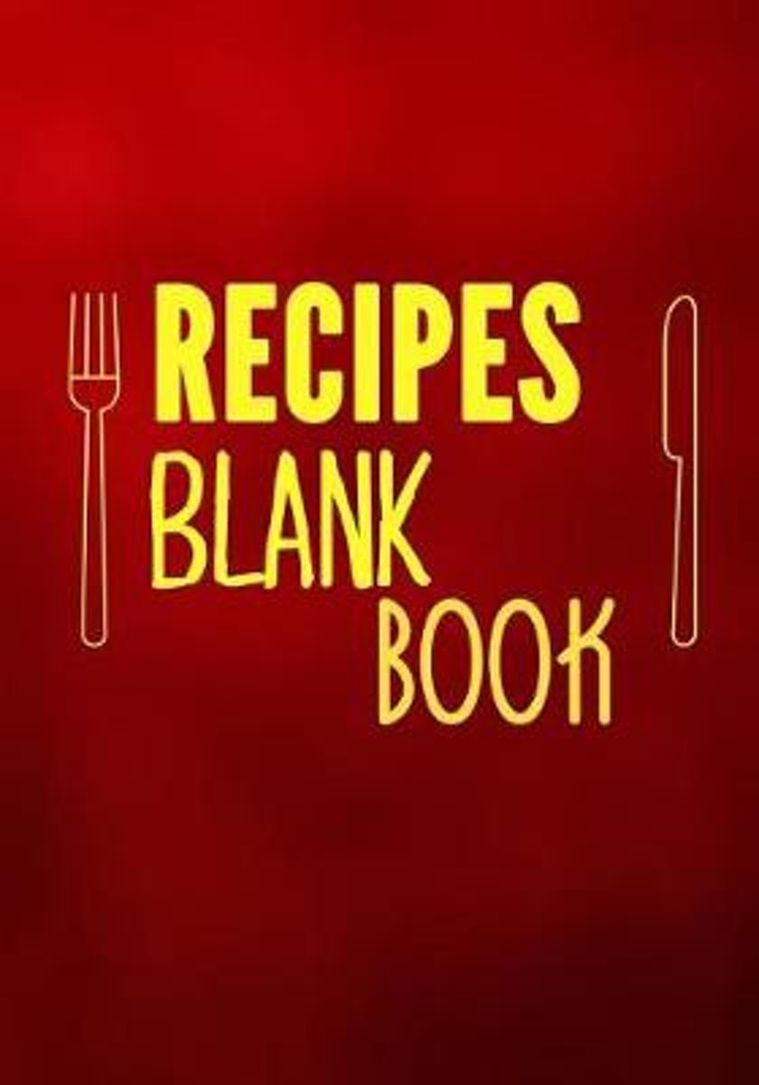 Recipes Blank Book