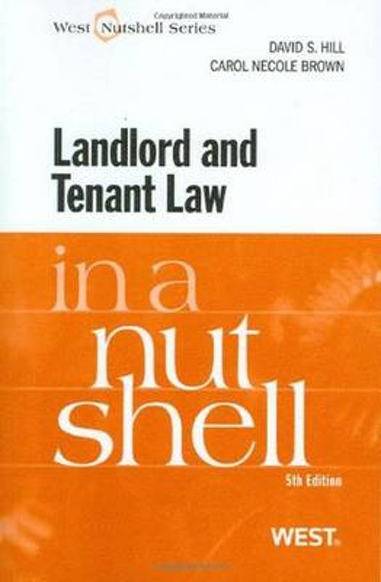 Landlord and Tenant Law in a Nutshell