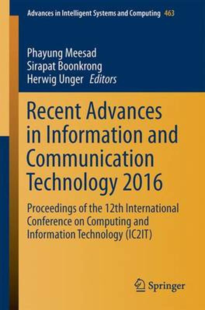 Recent Advances in Information and Communication Technology 2016