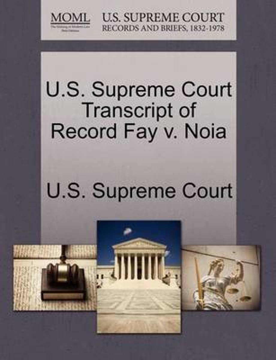 U.S. Supreme Court Transcript of Record Fay V. Noia