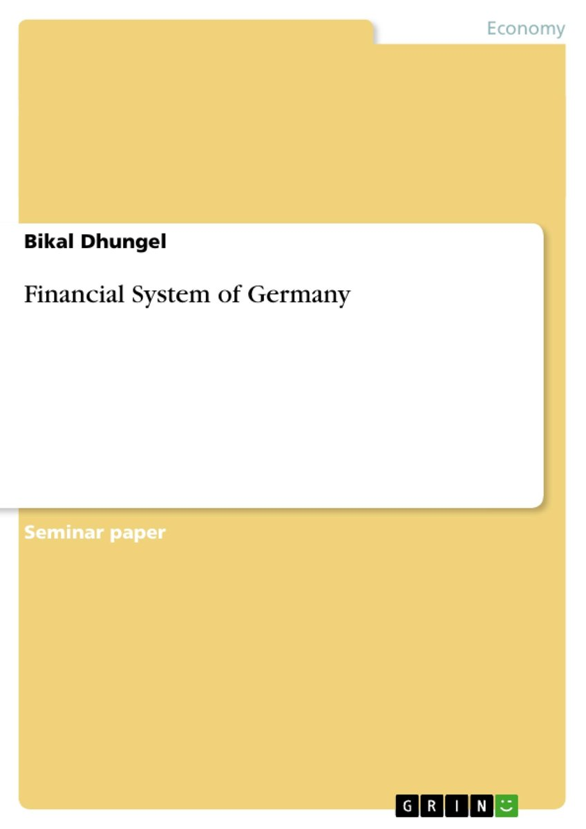 Financial System of Germany