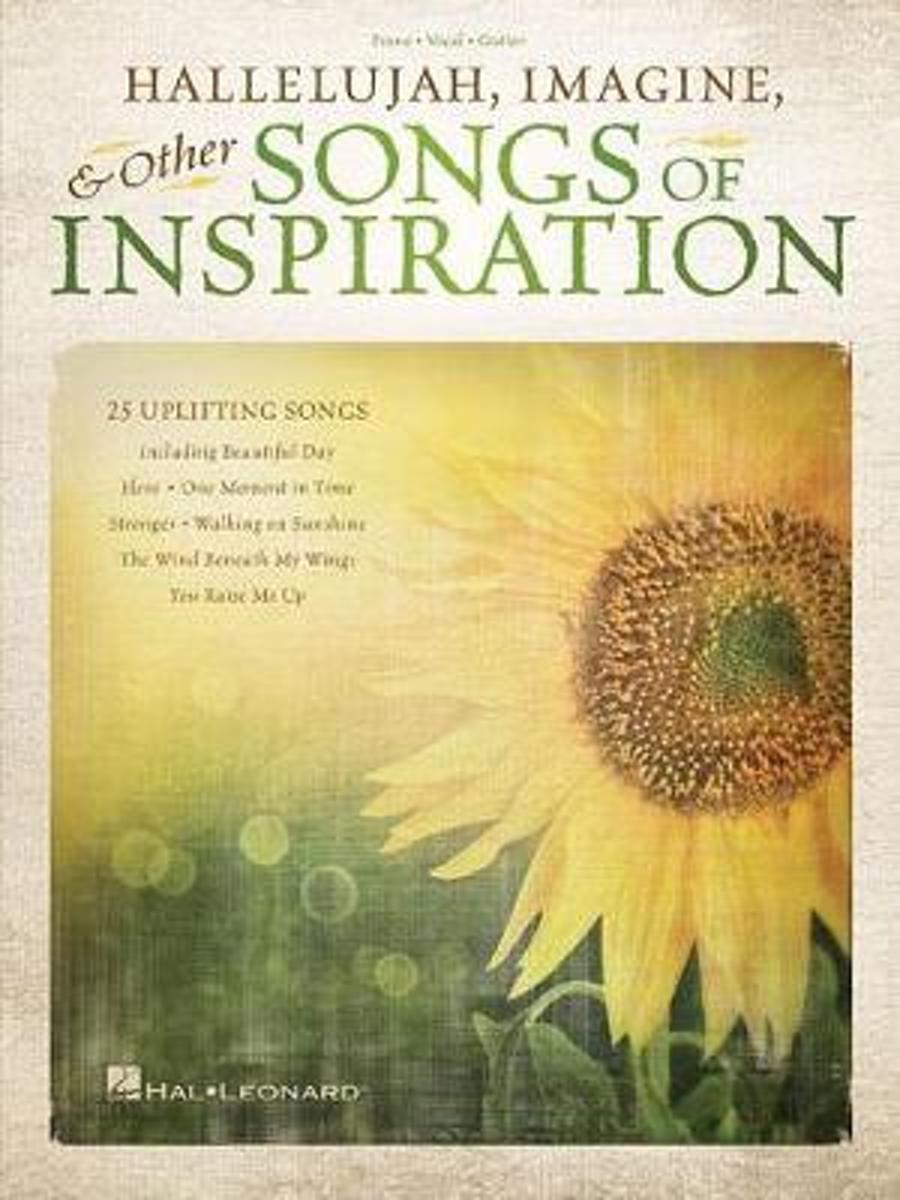 HALLELUJAH IMAGINE & OTHER SONGS OF INSPIRATION PIANO VOCAL GUITAR BK