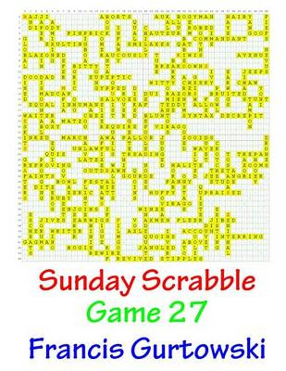 Sunday Scrabble Game 27
