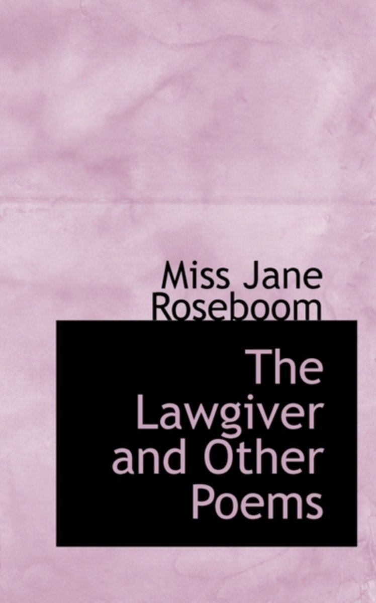 The Lawgiver and Other Poems