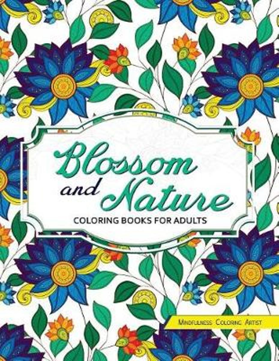 Blossom and Nature Coloring Books for Adults