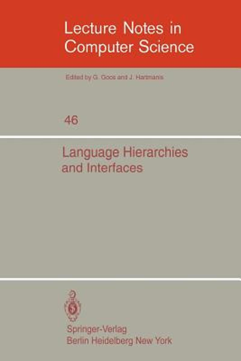 Language Hierarchies and Interfaces