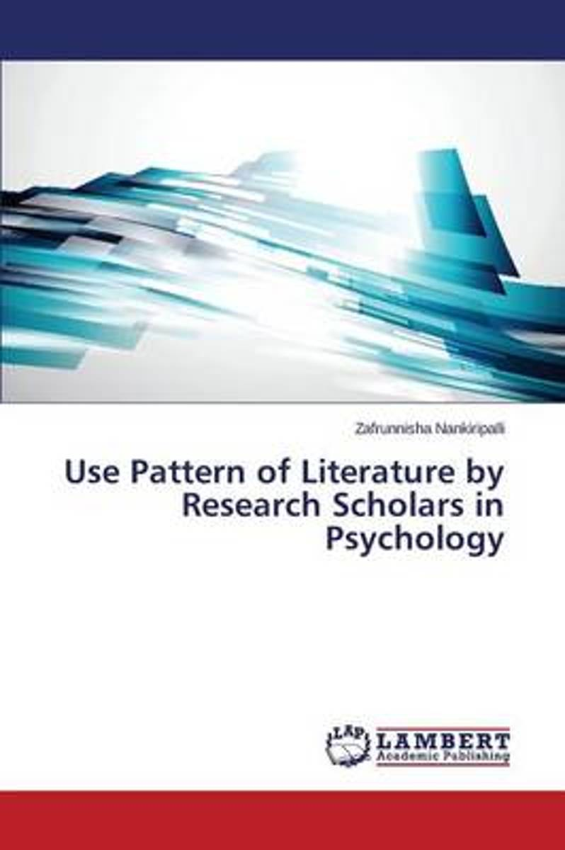 Use Pattern of Literature by Research Scholars in Psychology